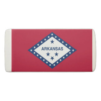 Patriotic Wedge Eraser with flag of Arkansas, USA