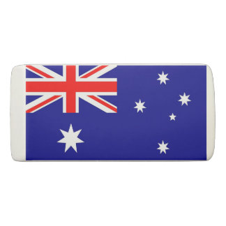 Patriotic Wedge Eraser with flag of Australia