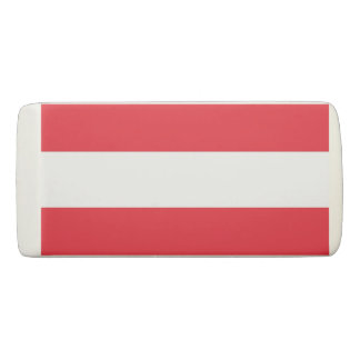 Patriotic Wedge Eraser with flag of Austria