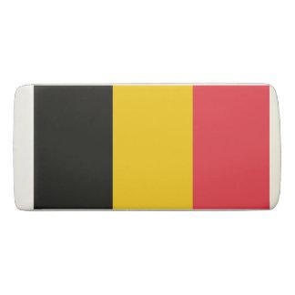Patriotic Wedge Eraser with flag of Belgium