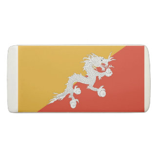 Patriotic Wedge Eraser with flag of Bhutan