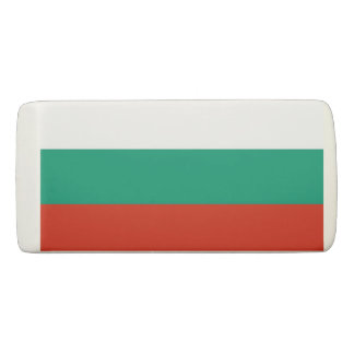 Patriotic Wedge Eraser with flag of Bulgaria