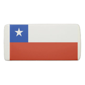Patriotic Wedge Eraser with flag of Chile