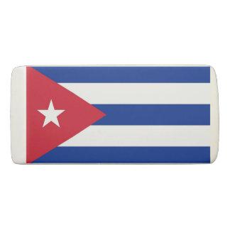 Patriotic Wedge Eraser with flag of Cuba