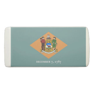 Patriotic Wedge Eraser with flag of Delaware