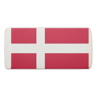 Patriotic Wedge Eraser with flag of Denmark