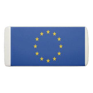 Patriotic Wedge Eraser with flag of European Union