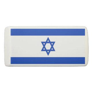 Patriotic Wedge Eraser with flag of Israel