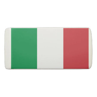 Patriotic Wedge Eraser with flag of Italy