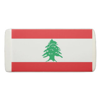 Patriotic Wedge Eraser with flag of Lebanon