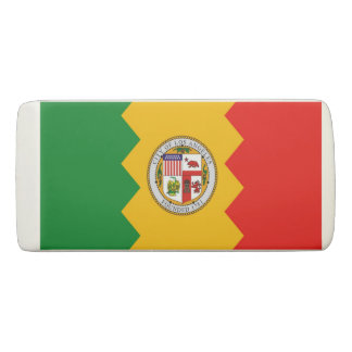 Patriotic Wedge Eraser with flag of Los Angeles