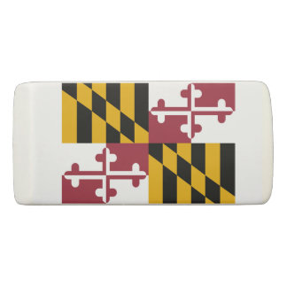 Patriotic Wedge Eraser with flag of Maryland