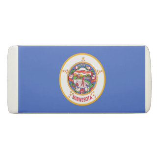 Patriotic Wedge Eraser with flag of Minnesota