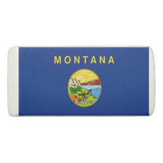 Patriotic Wedge Eraser with flag of Montana