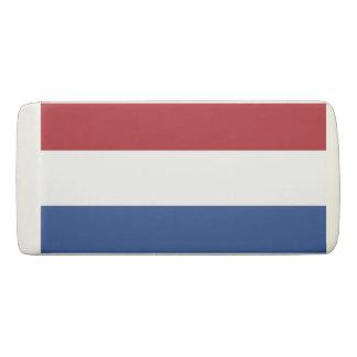 Patriotic Wedge Eraser with flag of Netherlands