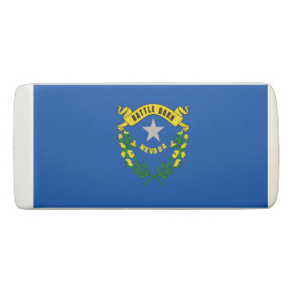 Patriotic Wedge Eraser with flag of Nevada
