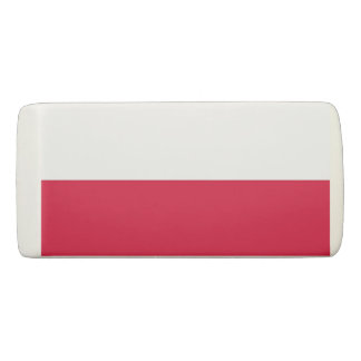 Patriotic Wedge Eraser with flag of Poland