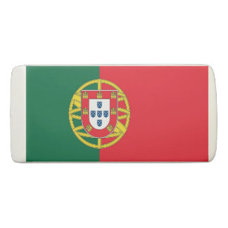 Patriotic Wedge Eraser with flag of Portugal