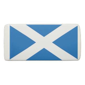 Patriotic Wedge Eraser with flag of Scotland