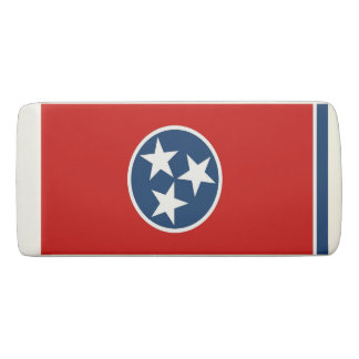 Patriotic Wedge Eraser with flag of Tennessee