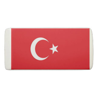 Patriotic Wedge Eraser with flag of Turkey