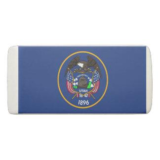 Patriotic Wedge Eraser with flag of Utah