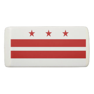 Patriotic Wedge Eraser with flag of Washington DC