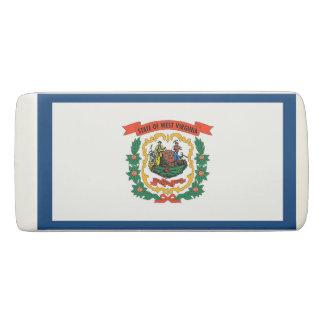 Patriotic Wedge Eraser with flag of West Virginia