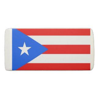 Patriotic Wedge Eraser with flag Puerto Rico