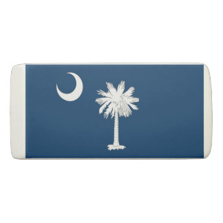 Patriotic Wedge Eraser with flag South Carolina