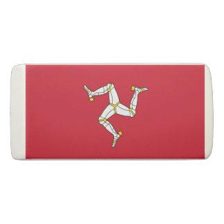 Patriotic Wedge Eraser with Isle of Man flag, UK
