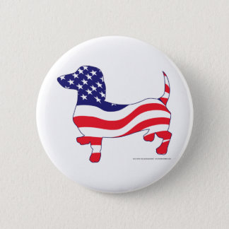 Patriotic-Weiner 2 Inch Round Button
