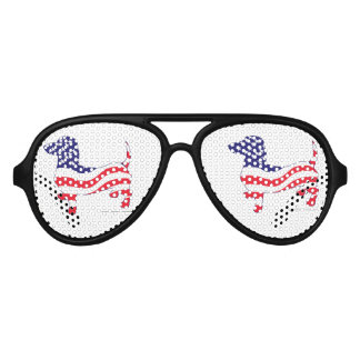 Patriotic-Weiner Aviator Sunglasses