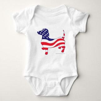 Patriotic-Weiner Baby Bodysuit