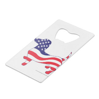 Patriotic-Weiner Credit Card Bottle Opener