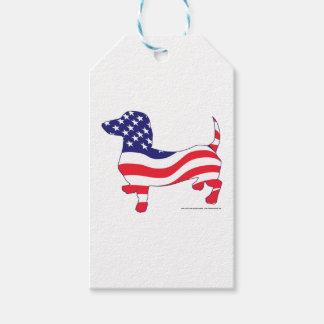 Patriotic-Weiner Pack Of Gift Tags