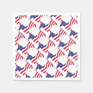Patriotic-Weiner Paper Napkin