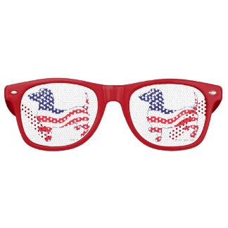 Patriotic-Weiner Retro Sunglasses