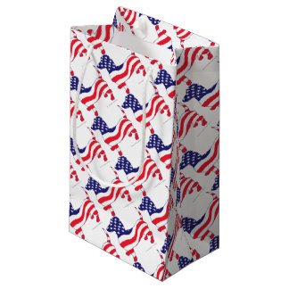 Patriotic-Weiner Small Gift Bag