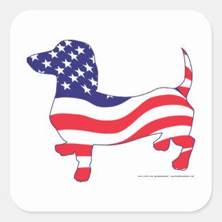 Patriotic-Weiner Square Sticker