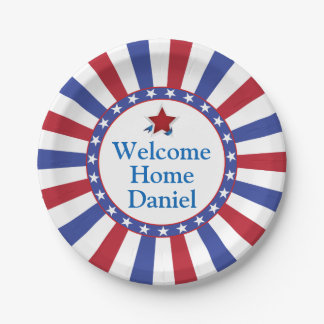 Patriotic Welcome Home Party Paper Plate