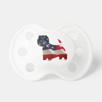 Patriotic Westie Pacifier