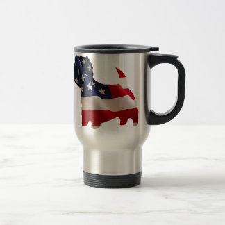 Patriotic Westie Travel Mug