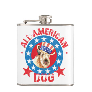 Patriotic Wheaten Hip Flask
