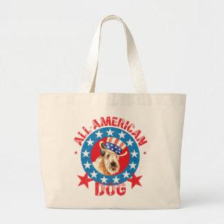 Patriotic Wheaten Large Tote Bag