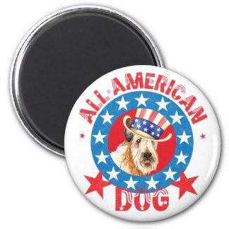 Patriotic Wheaten Magnet