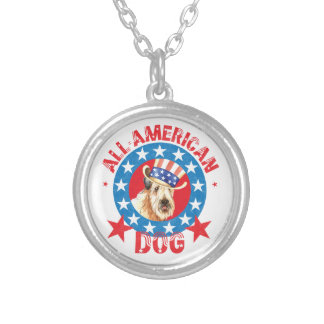 Patriotic Wheaten Silver Plated Necklace