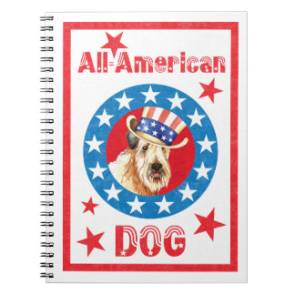 Patriotic Wheaten Spiral Notebook