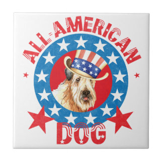 Patriotic Wheaten Tile