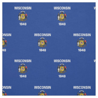 Patriotic Wisconsin State Flag Fabric